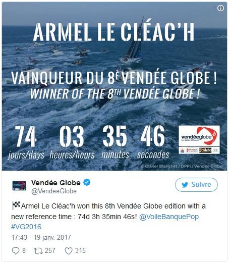Armel le cleach vainqueur vendee globe _ KYSS Marine