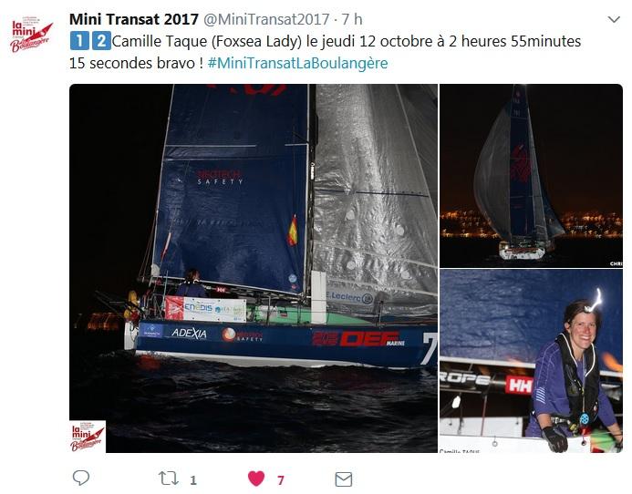 Camille Taque 12ème en proto Mini Transat _ Kyss Marine