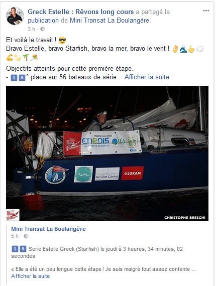 Estelle Greck Mini Transat 15è à Las Palmas_Kyss Marine