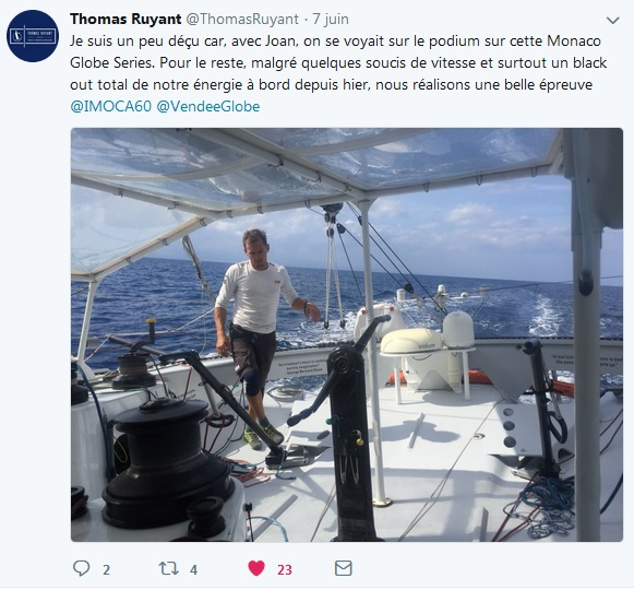 Thomas Ruyant Monaco Globe Series