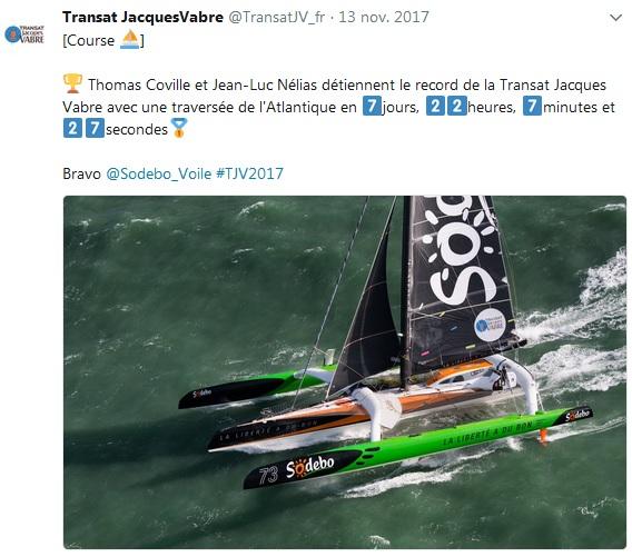 Victoire Sodebo Ultim TJV 17